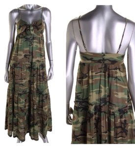 Green Camouflage Maxi Dress by Ralph Lauren