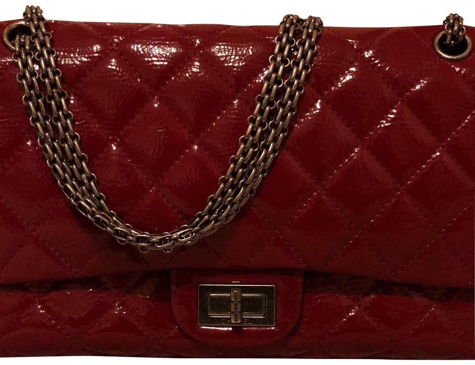 c2a7eb193d85 Chanel 2.55 Reissue Classic Flap Distressed Raspberry Red Patent ...