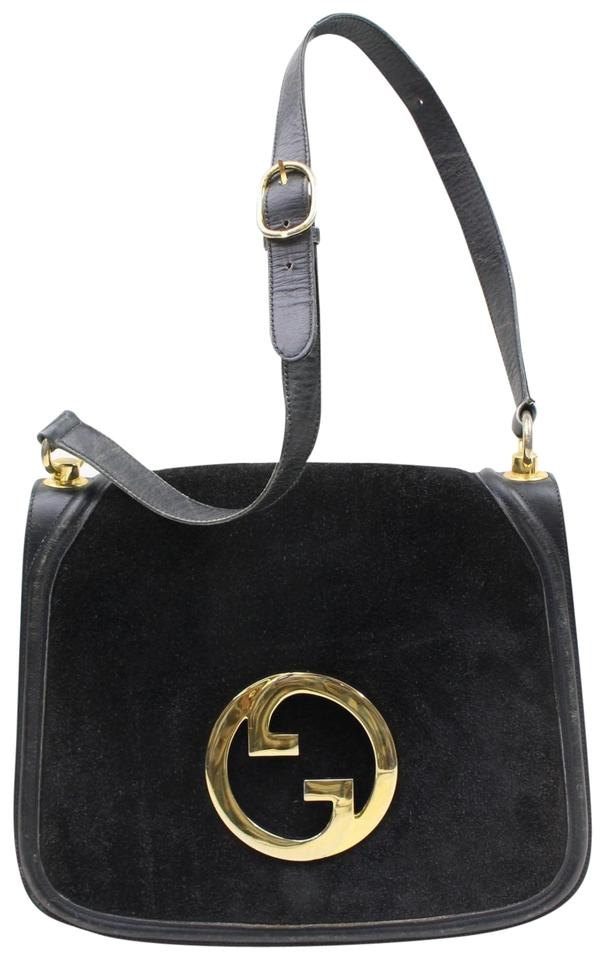 56b0465b2a9c Gucci Vintage Purses/Designer Purses Midnight Blue Suede with Leather Trim  Hobo Bag