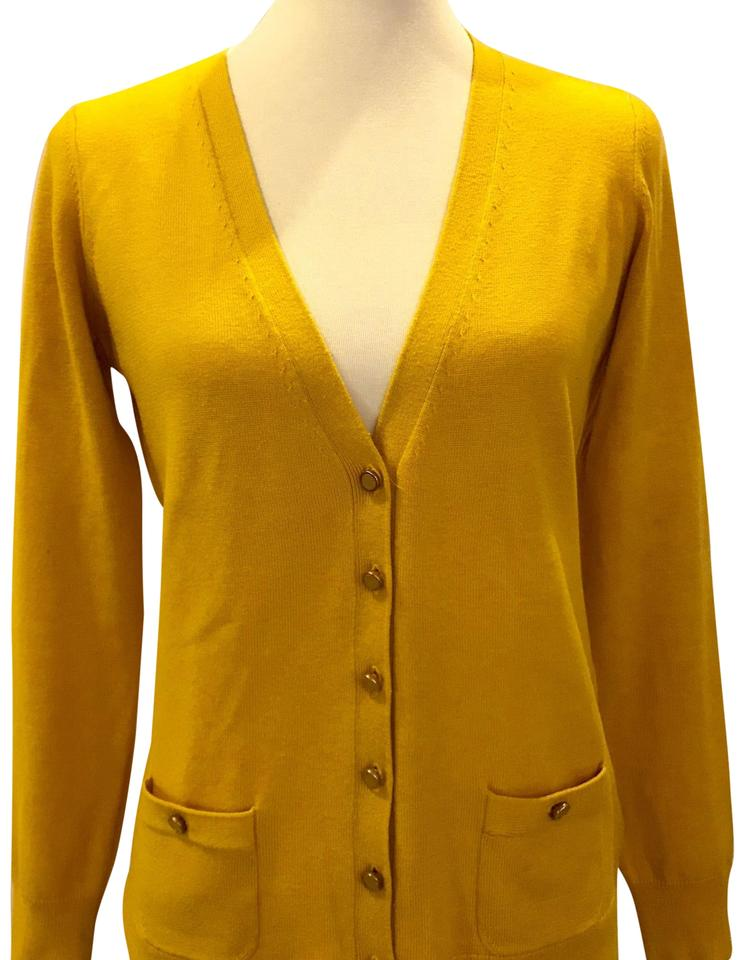 0c5025dc75 Banana Republic Cardigan Mustard Sweater - Tradesy
