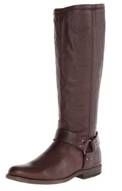 Item - Dark Brown Soft Vintage Leather Phillip Harness Tall Calf Boots/Booties Size US 10 Wide (C, D)