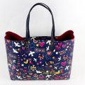 Tory Burch Tote in Navy Peace Print Image 3