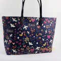Tory Burch Tote in Navy Peace Print Image 7