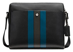 Coach New With Tags Men's black navy Messenger Bag