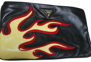 Prada Black, yellow, and red Clutch