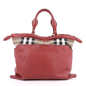 Burberry Crush Canvas Tote in Red