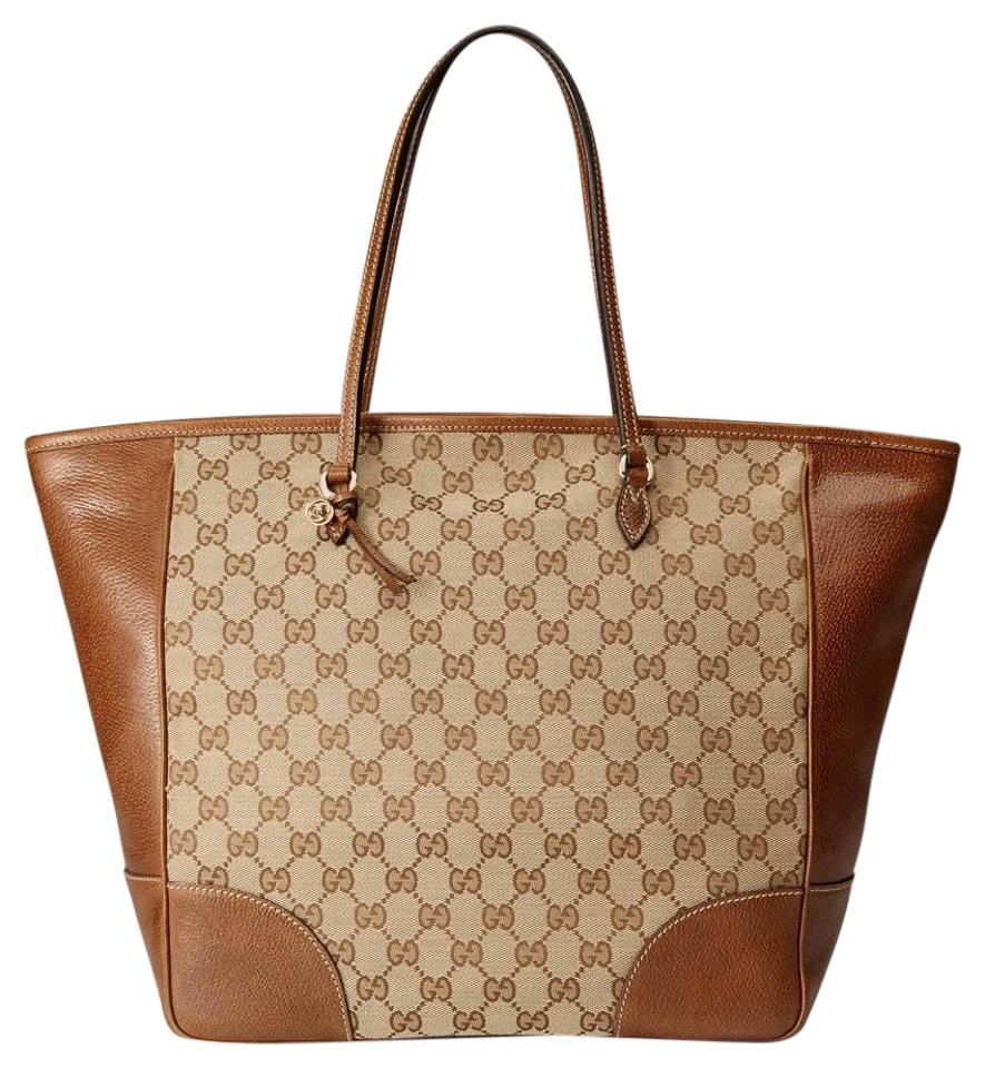 b2f724226f71 Gucci Leather/Canvas Tote in Original GG Canvas Image 0 ...
