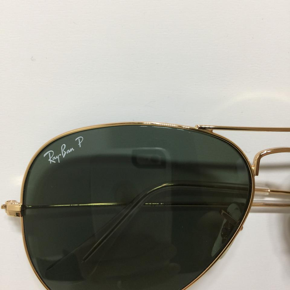 99bc51534f39f Ray-Ban RB 3025 001 58 Gold Aviator green Polarized 58mm Image 6. 1234567