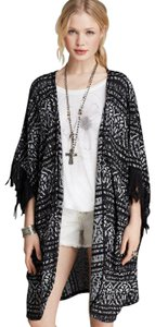 Free People Sleeveless Print Woven Cape