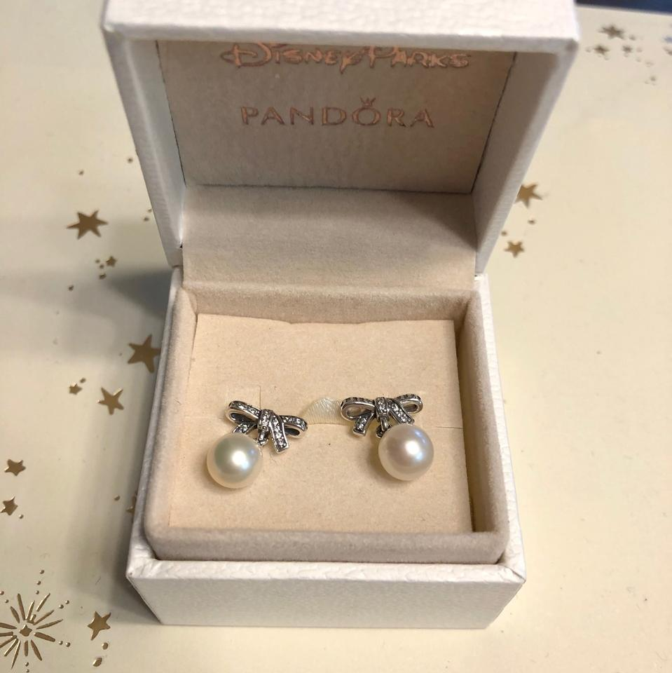 ae3c3c0bd PANDORA Delicate Sentiments Drop Earrings, White Pearl & Clear CZ Image 2.  123