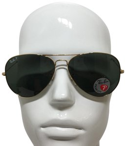 Ray-Ban RB 3025 001/58 Gold Large Aviator, green Polarized lenses 62mm