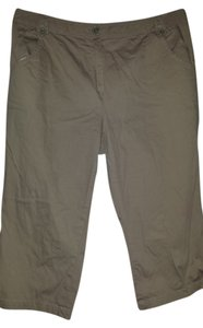 Sharagano Tan Casual Summer Spring Capris Tan, khaki