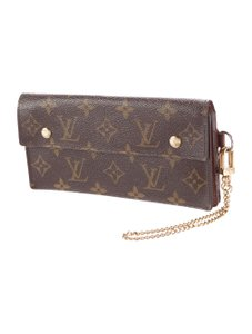 Louis Vuitton Sarah Chain Wallet Biker Wallet Supreme Lv Wallet Damier Wallet Brown Clutch