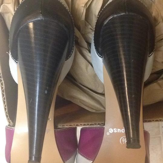 Dollhouse Black, Grey & Purple Pumps