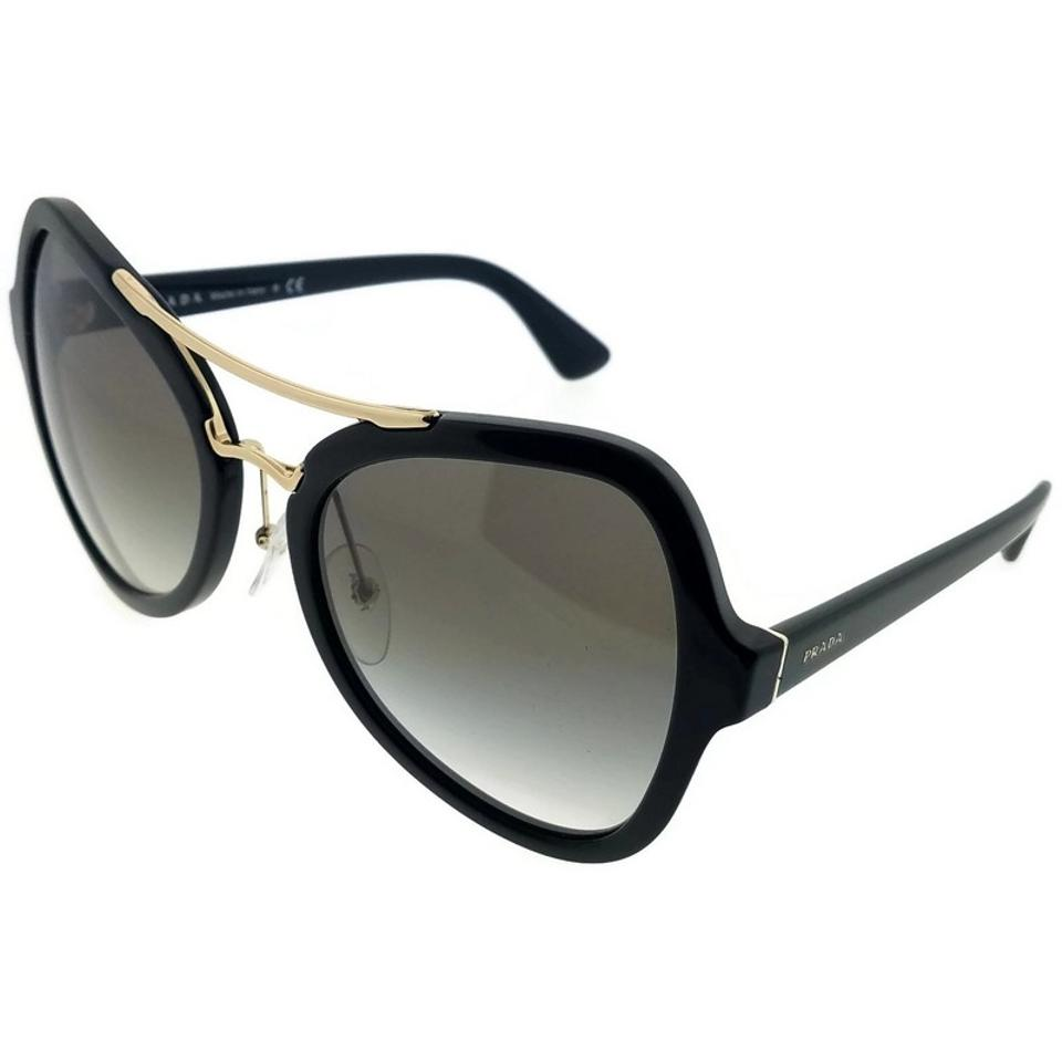 Prada Pr18ss-1ab0a7 Women\'s Black Frame Grey Lens Genuine Sunglasses ...