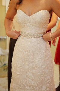 Maggie Sottero Ivory Over Nude Lace Arlyn Vintage Wedding Dress Size 6 (S)