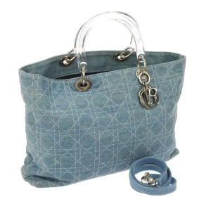 Dior Made In Italy Satchel in Blue Denim