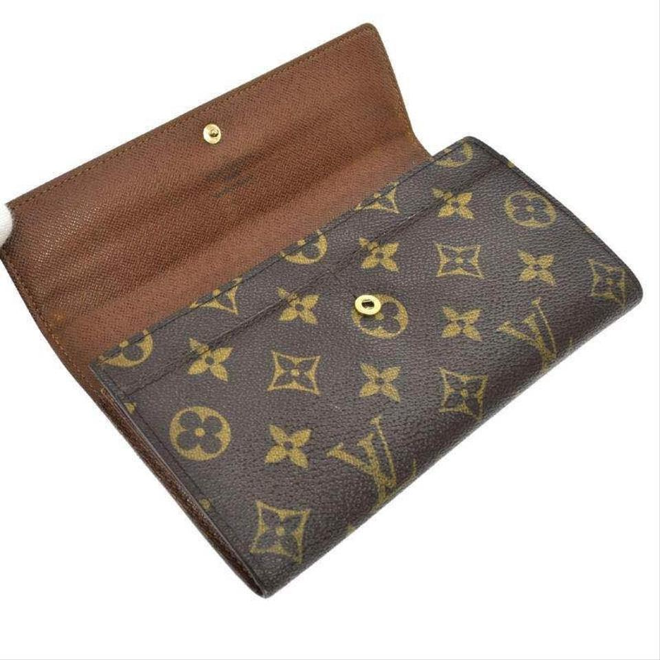 louis vuitton brown vintage monogram canvas long sarah wallet tradesy. Black Bedroom Furniture Sets. Home Design Ideas