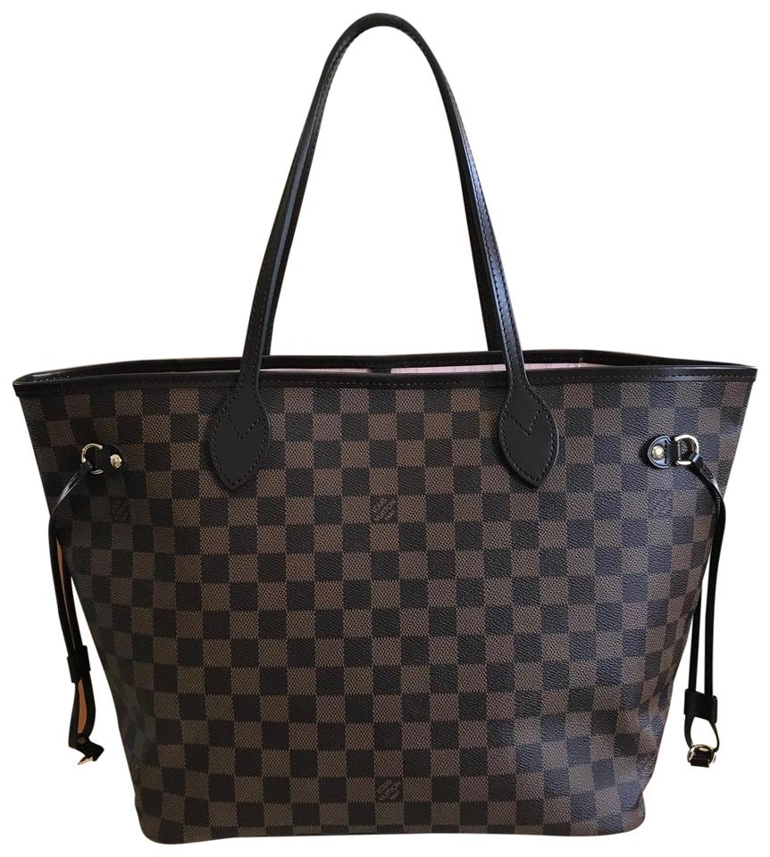 Louis Vuitton Neverfull Mm Box Dustbag Tags. Rose Ballerine Damier Ebene  Canvas Leather Tote 6c86c4ef76654