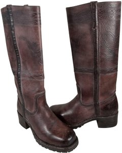 Frye Knee-high True To Size Pull In Usa Walnut Boots