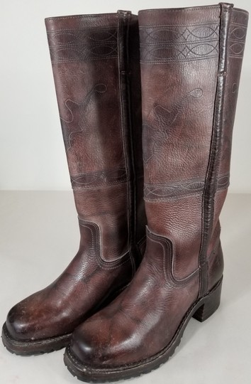 Frye Knee-high True To Size Pull In Usa Walnut Boots Image 2