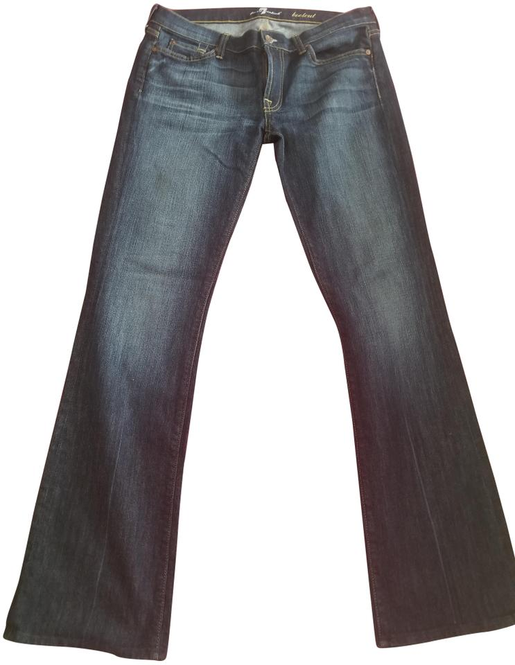 7 for all mankind medium wash seven boot cut jeans size 32. Black Bedroom Furniture Sets. Home Design Ideas