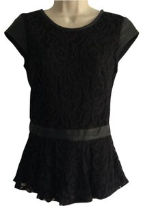 Gemma Lace Peplum Day Night Ships Next Day Top Black