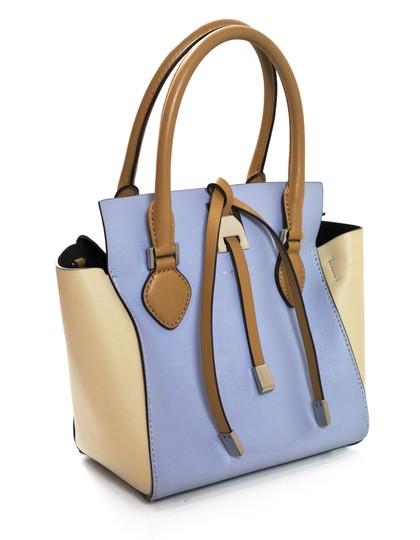 Michael Kors Tri-color Leather Tote in blue Image 2