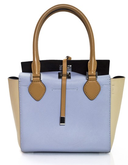 Michael Kors Tri-color Leather Tote in blue Image 3