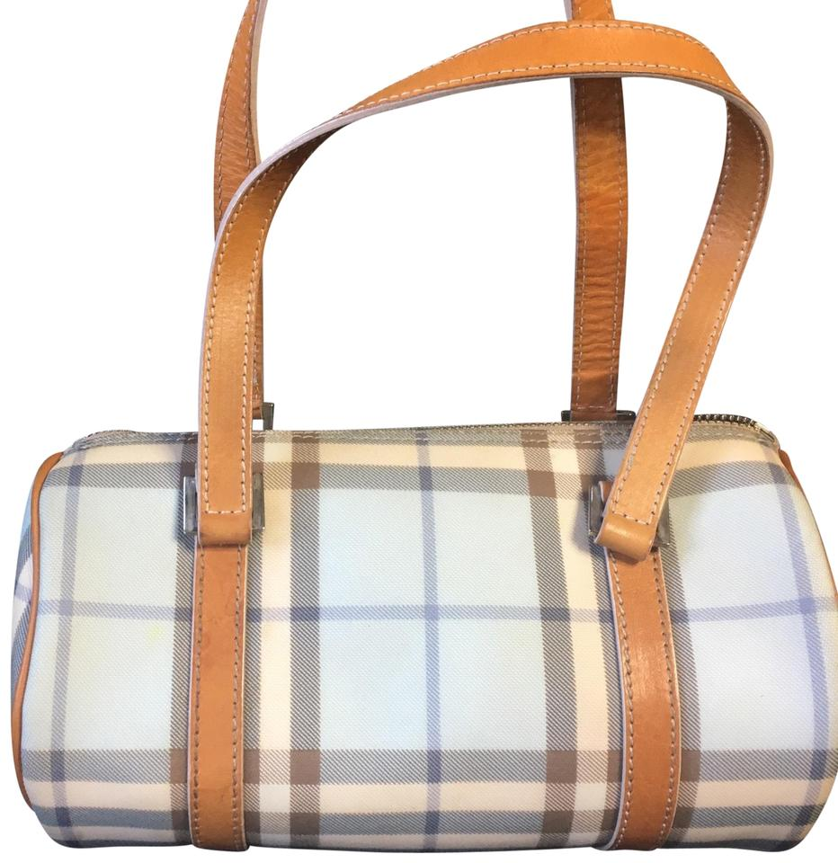 cd361581a626 Burberry London Nova Check Barrel Blue and Brown Shoulder Bag - Tradesy