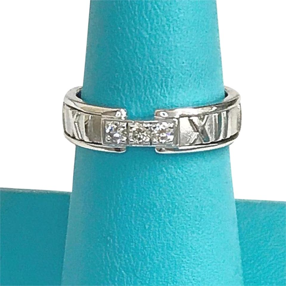 Tiffany Amp Co Co Atlas Collection 18 Karat White Gold Ring