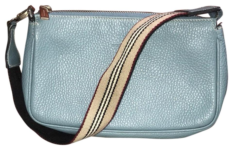 66272d9c4d48 Burberry Pebble Baguette Blue Leather Wristlet - Tradesy