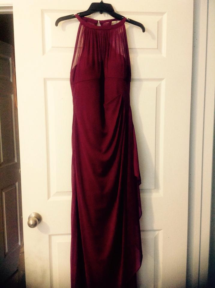 77f05cdc6cb David s Bridal Sangria Mesh F15662 Formal Bridesmaid Mob Dress Size 8 (M) .