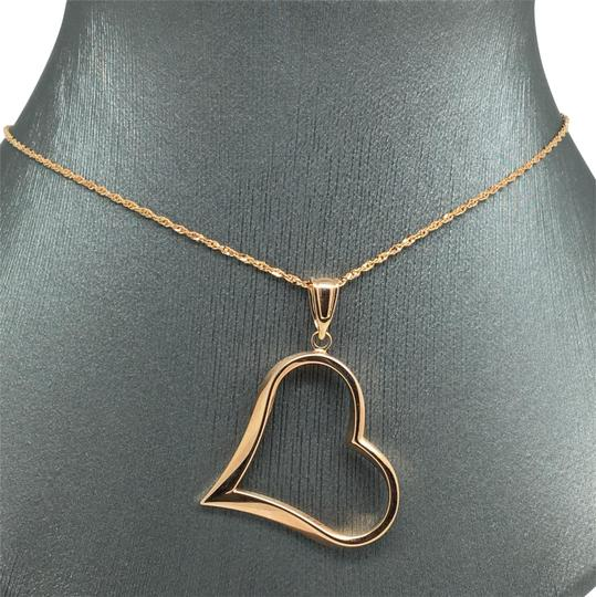 Other 14K Rose Gold Open Heart Pendant and Chain Image 0