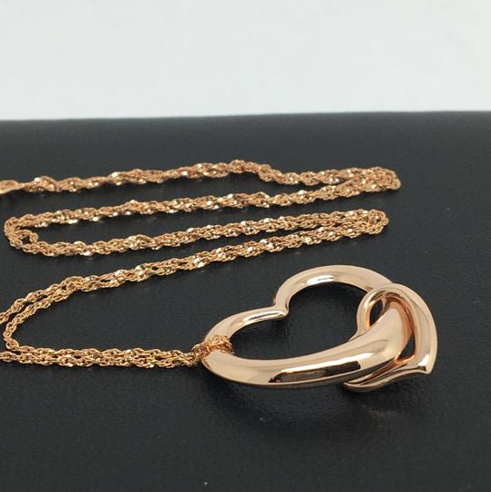 Other 14K Rose Gold Sideway Slide Pendant with Chain Image 2