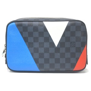 Louis Vuitton Regatta Canvas Toiletry grey Clutch