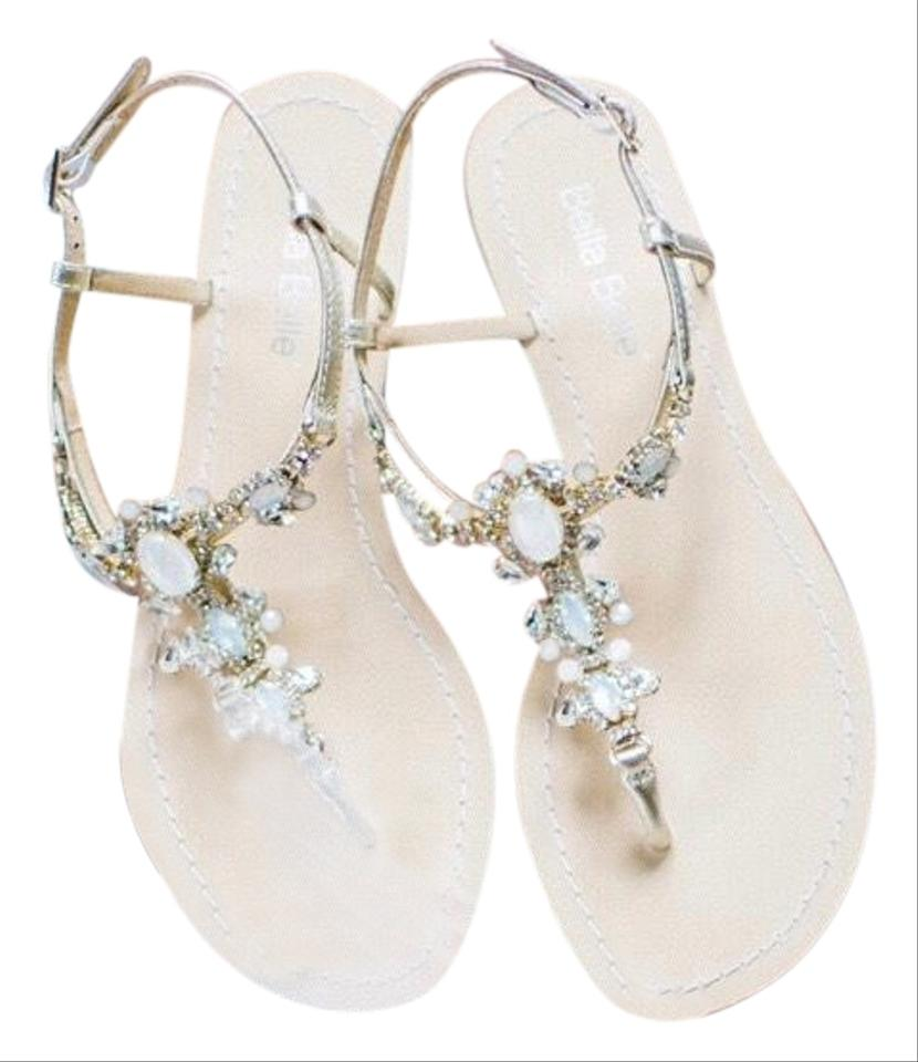 e387fa3c5 Bella Belle Luna Crystal Jewel Gold Dress Sandals Size US 7.5 ...