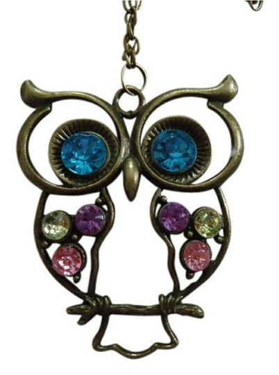 Preload https://img-static.tradesy.com/item/22720140/antique-brass-finish-rhinestone-owl-necklace-0-0-540-540.jpg