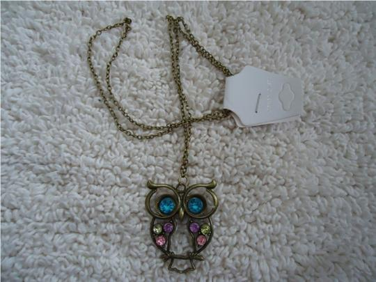 Other Rhinestone Owl Necklace Image 2