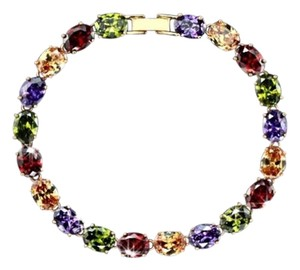 "Other Swarovski Crystals The Kinsey Colorful Bracelet 6.5"" S18"