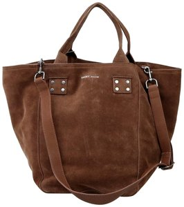 Lucky Brand Suede Satchel Koi Tote in M331-43 Brown
