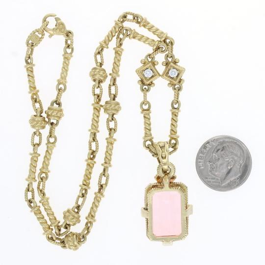 Judith Ripka Judith Ripka Pink Crystal & Diamond Pendant Necklace - 18k Yellow Gold Image 5