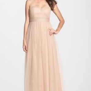 Jenny Yoo Beige Tulle Annabelle - Tuscan Formal Bridesmaid/Mob Dress Size 4 (S)