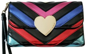 Victoria's Secret NEW Victoria's Secret Metallic color V strips Phone Wallet Wristlet