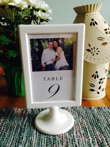 Set Of 2 White Table Number Frames