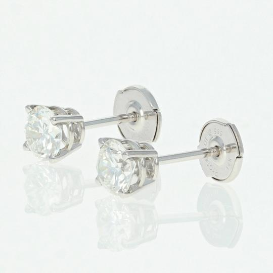 Wilson Brothers NEW Diamond Stud Earrings - 14k Gold La Pousette GIA Round Brilliant 1 Image 1