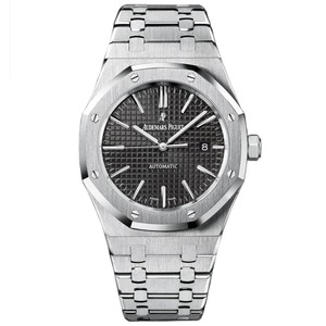 Audemars Piguet AUDEMARS PIGUET Royal Oak Stainless Steel Grey Dial 41mm Watch - NEW