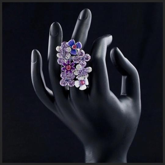 Other Swarovski Crystals The Lundy Flower Statement Ring S11 Image 2