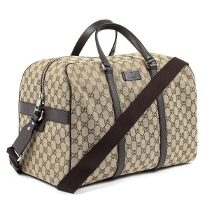 Gucci Unisex Carry On Duffle Beige Travel Bag
