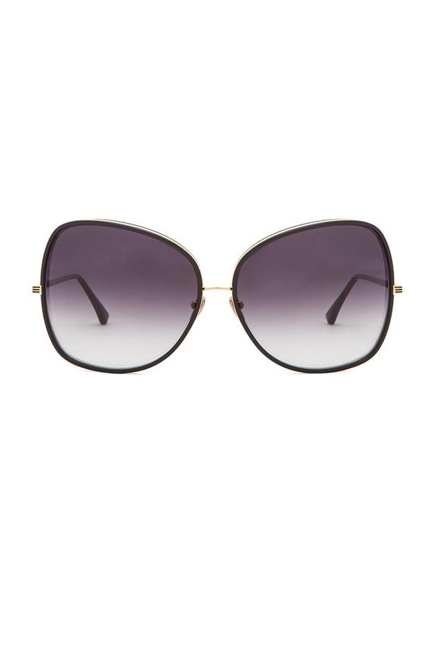 722053a19c Dita Gold-tone Bluebird Two Oversize Square with Black Resin Accents and  Black Gradient Lenses. Sunglasses